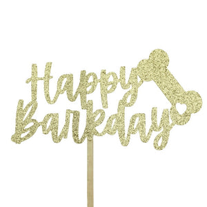 Happy Barkday Cake Decoration Topper
