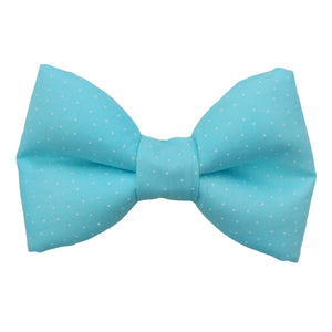 Pastel Blue Polka Dot Bow Tie