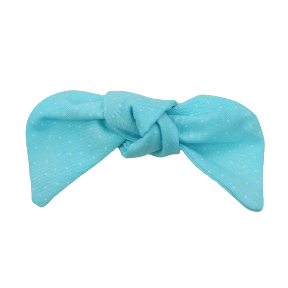 Pastel Blue Polka Dot Hair Bow