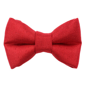 Metallic Red Bow Tie