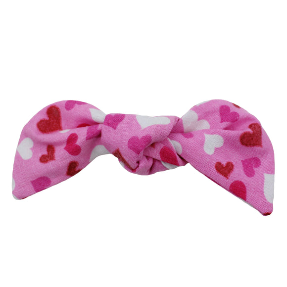 Valentine Hearts Hair Bow