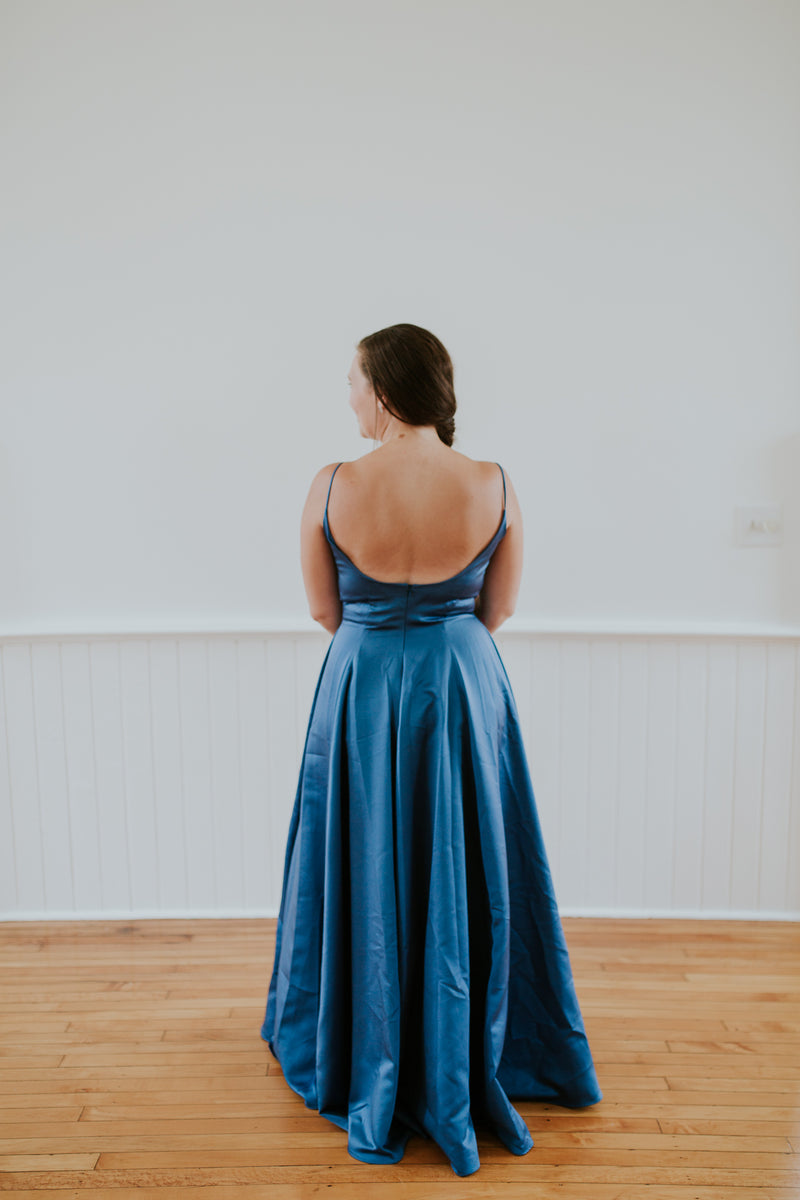 Long Blue Dress