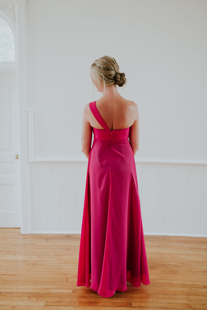 Long Deep Pink Dress