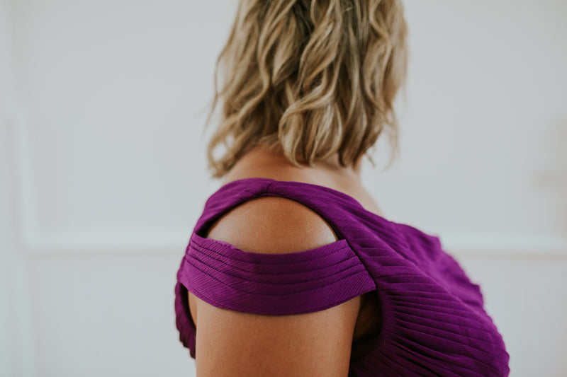 One Shoulder Purple Dress