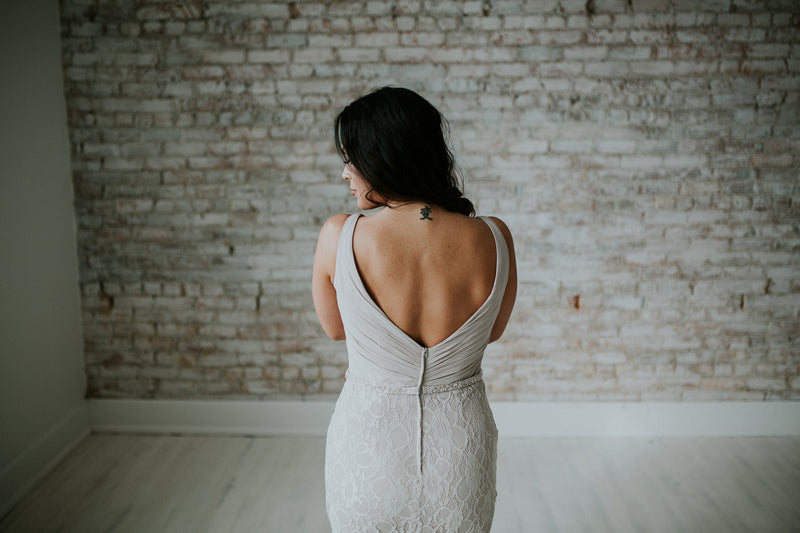 Taupe Long Dress With Straps