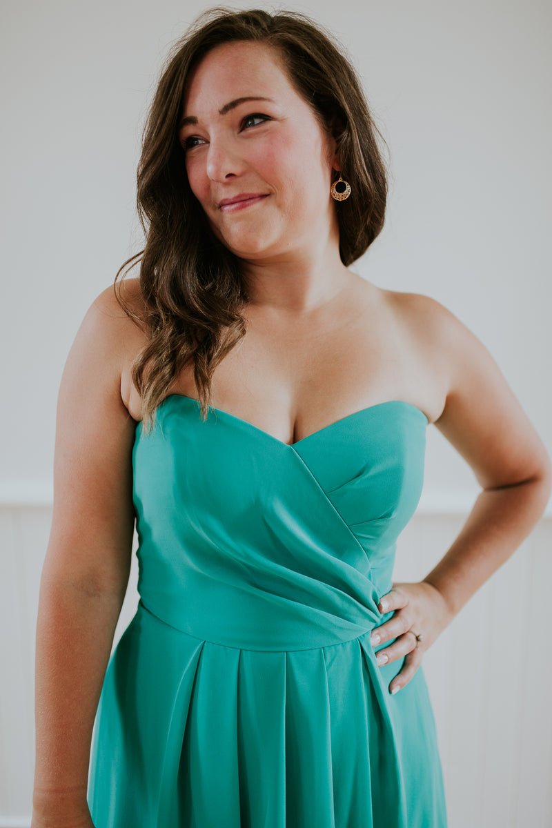 Strapless Light Blue Dress
