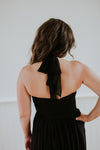 Long Halter Black Dress