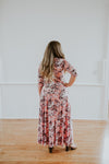 Pink Flowered Maternity Dress