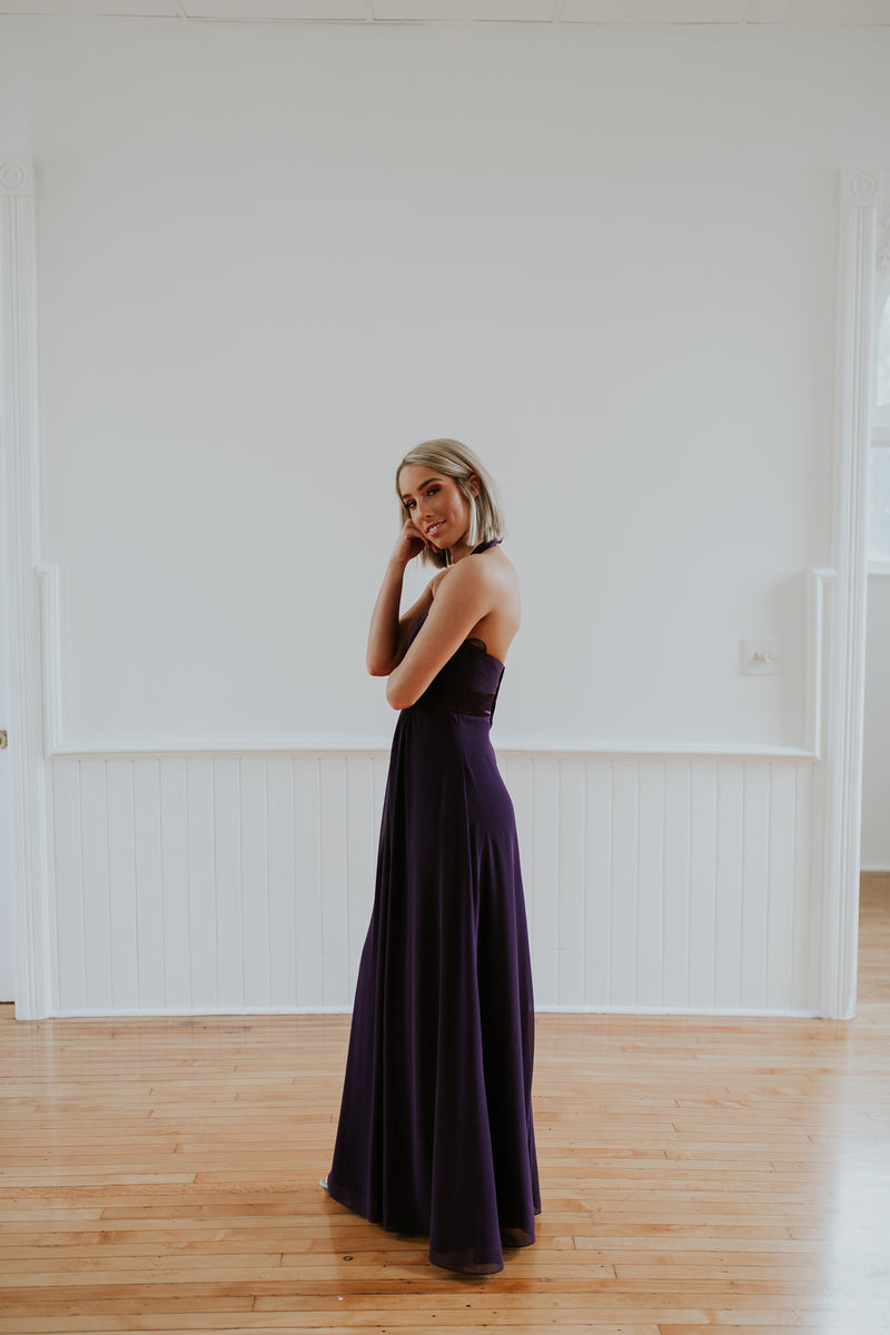 Purple Halter Dress
