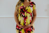 Yellow Maternity Dress with Flowers