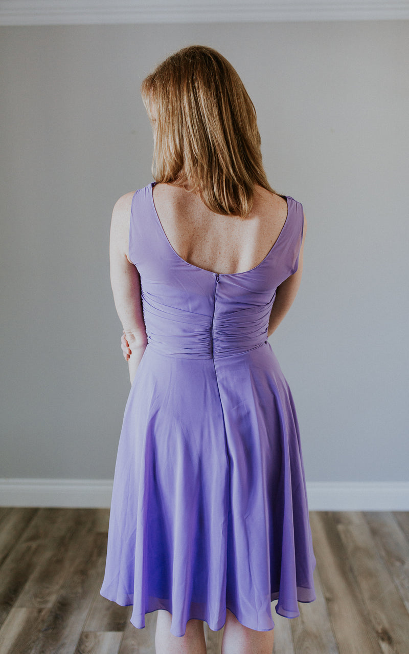 Light Purple Short Dress With Straps
