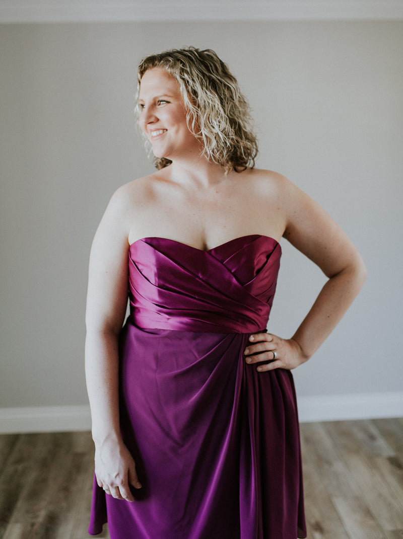 Purple Cocktail Dress
