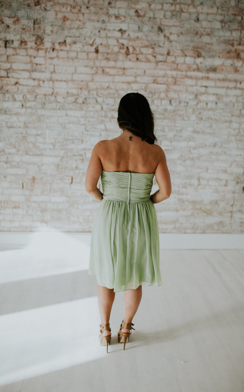 Light Green Short Dress