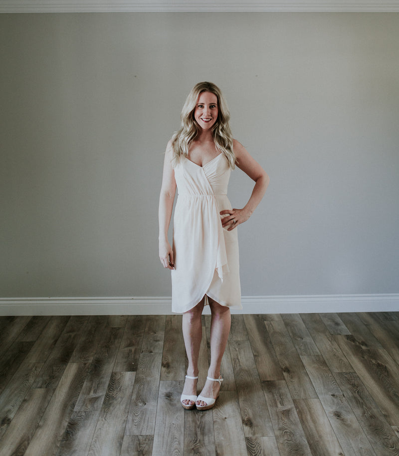 Short Nude Cocktail Dress