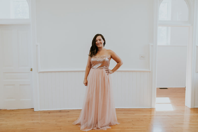 Pink and Rose Gold Dress