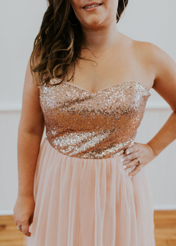 Light Purple Strapless Dress