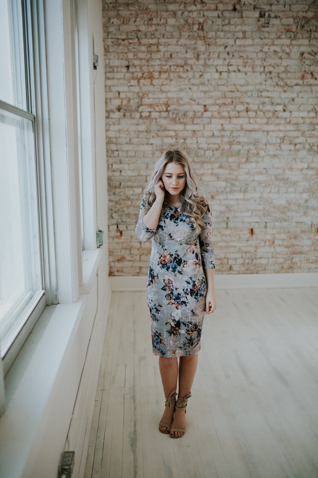 Grey and Floral Maternity
