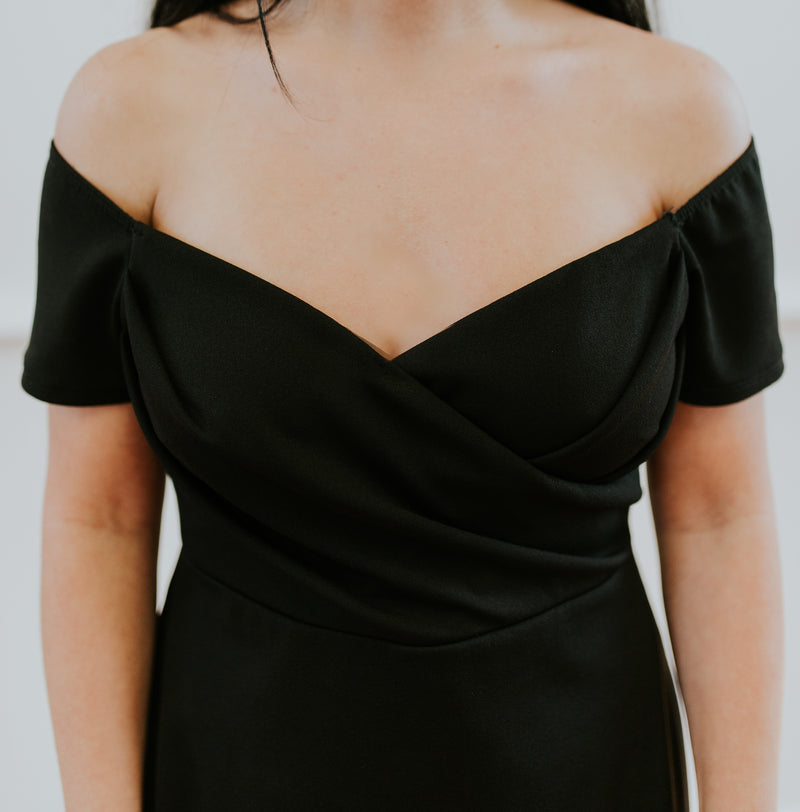 Black Off the Shoulder Dress