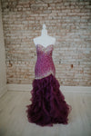 Strapless Purple Long Dress