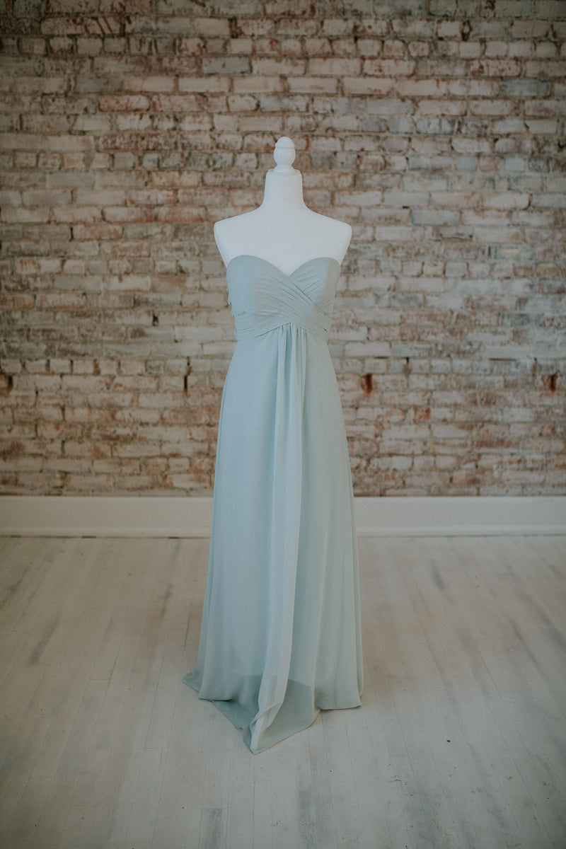 Light Blue Strapless Dress