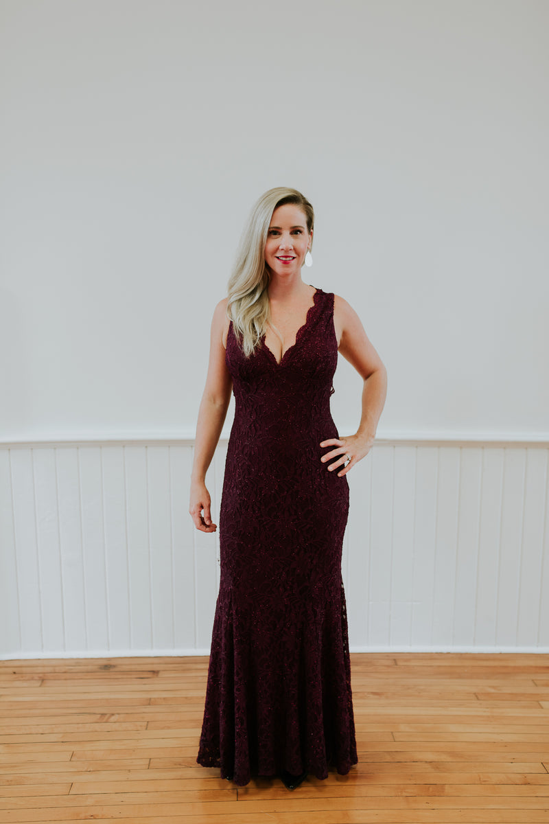 Maroon Long Dress