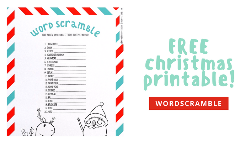 FREE printable Christmas Word Scramble