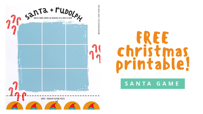 FREE printable Christmas Santa & Rudolph Game