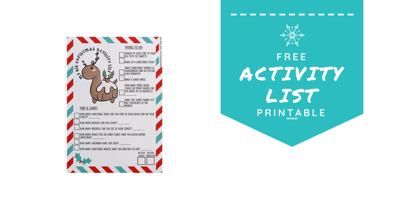 FREE Printable Christmas Activity List