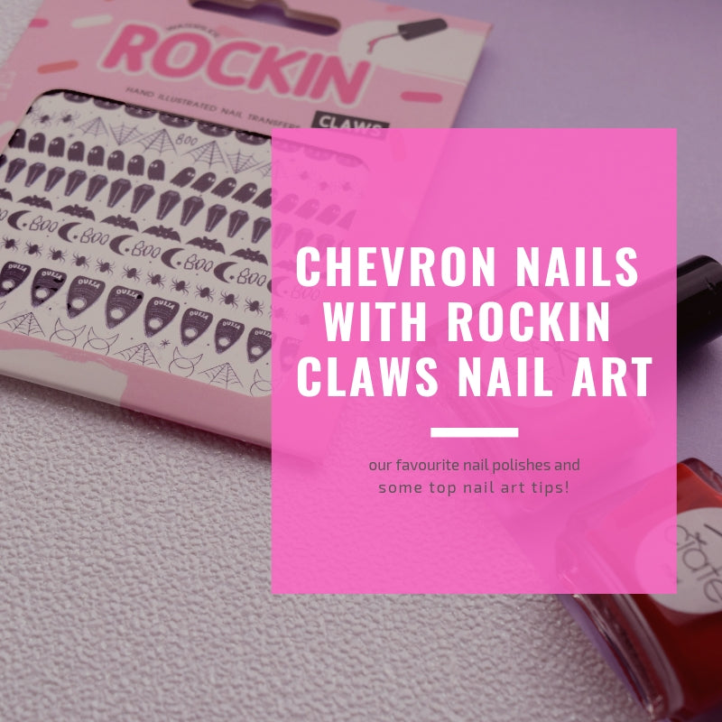 Chevron Nails With Rockin Claws Nail Art