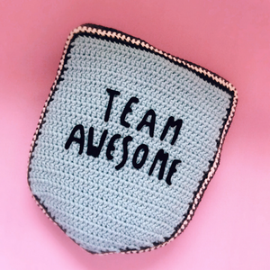 Team Awesome Cushion Crochet Pattern - House Of Wonderland, HOW