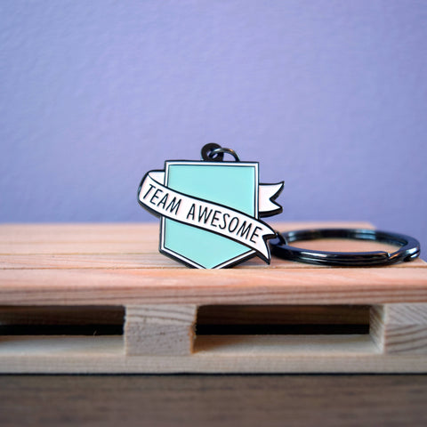 Positive Ruler Keyring
