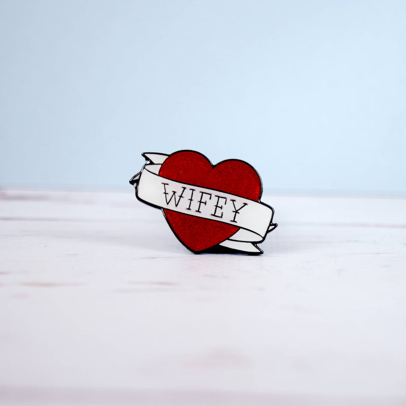Wifey Enamel Pin - House Of Wonderland, HOW