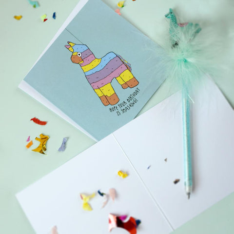 Pink Unicorn Card
