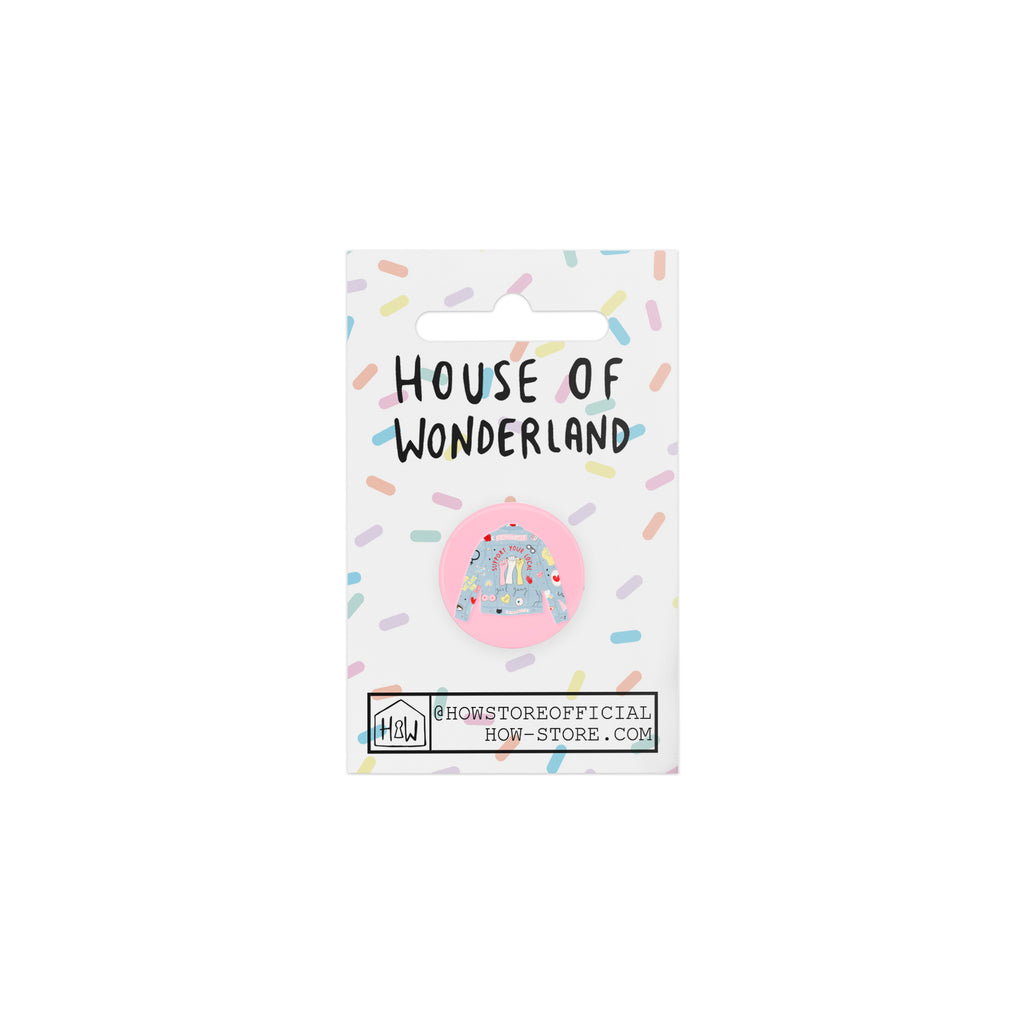 "Girl Gang 1"" Badge - House Of Wonderland, HOW"