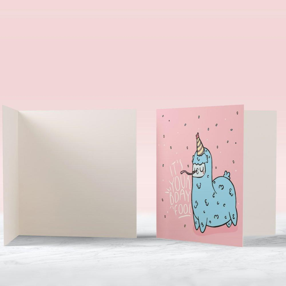 Bday Llama Card - House Of Wonderland