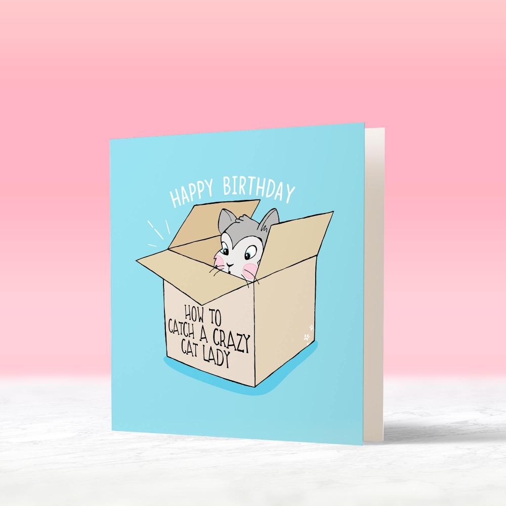 Bday Cat Card - House Of Wonderland, HOW