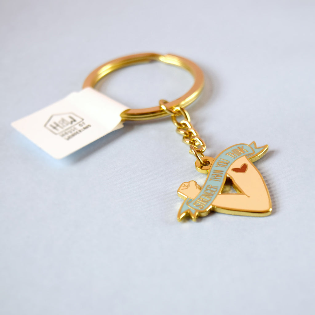 Stronger Than You Think Keyring - House Of Wonderland, HOW