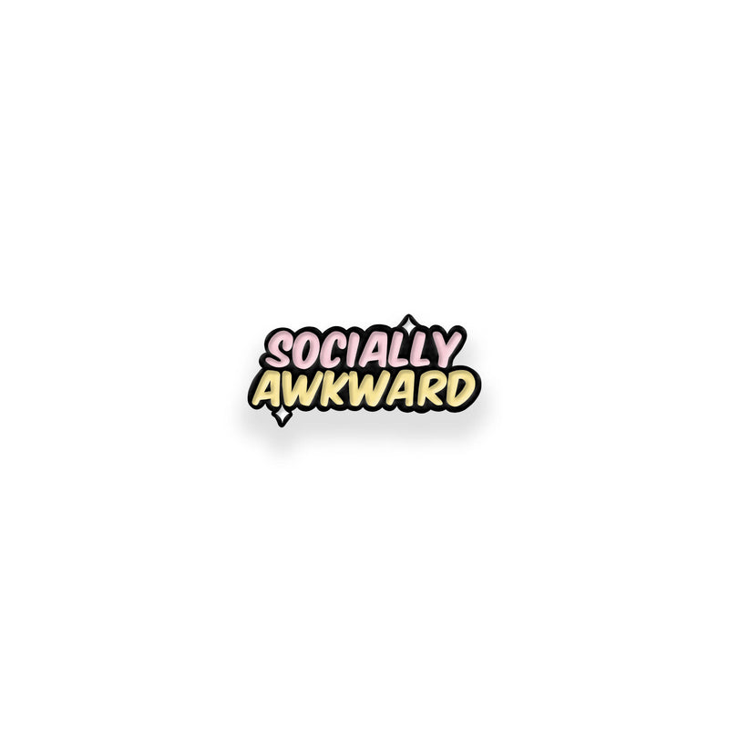 Socially Awkward Enamel Pin - House Of Wonderland, HOW