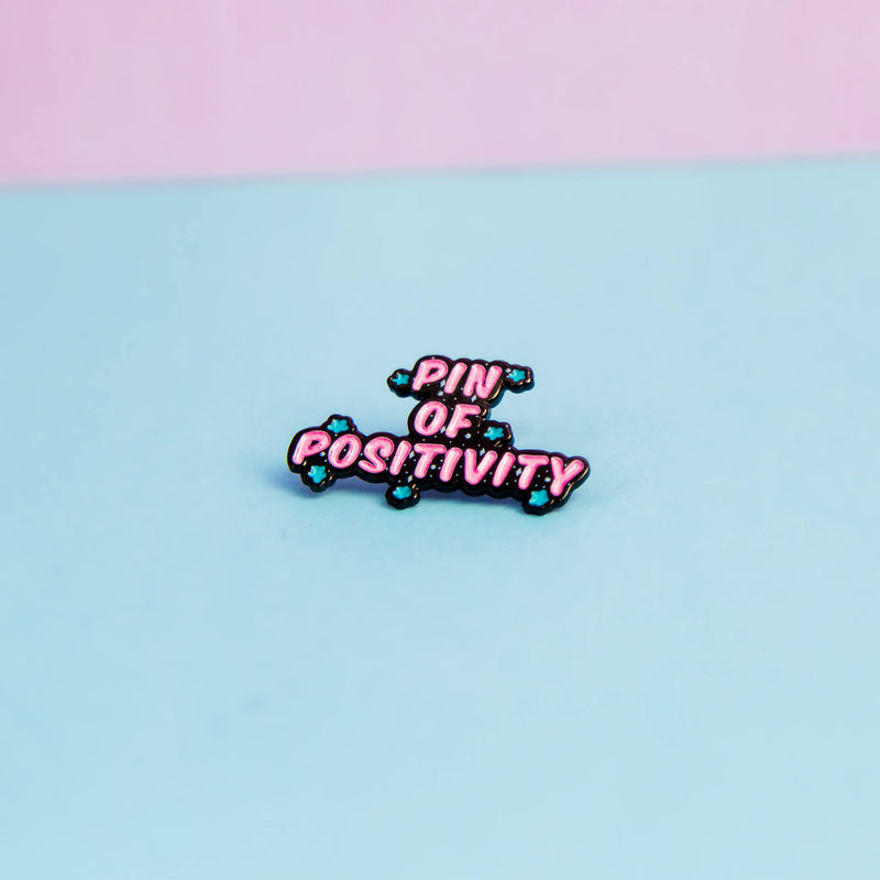 Pin Of Positivity Enamel Pin - House Of Wonderland, HOW