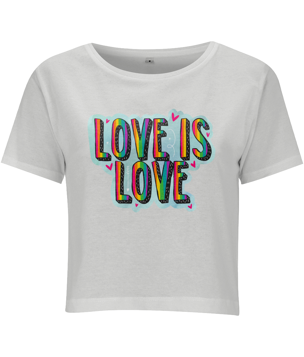 Love Is Love Crop Top - House Of Wonderland, HOW