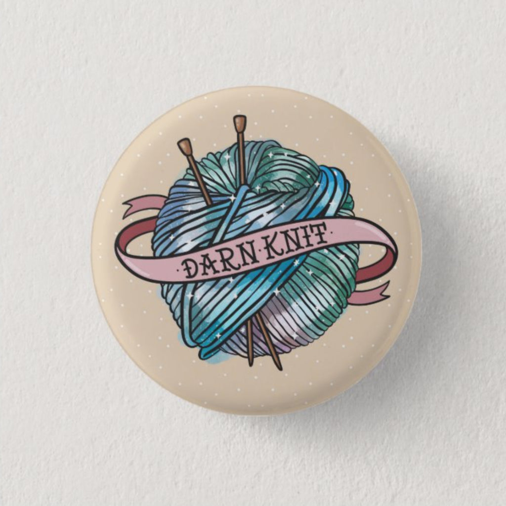 Darn Knit Badge - House Of Wonderland, HOW