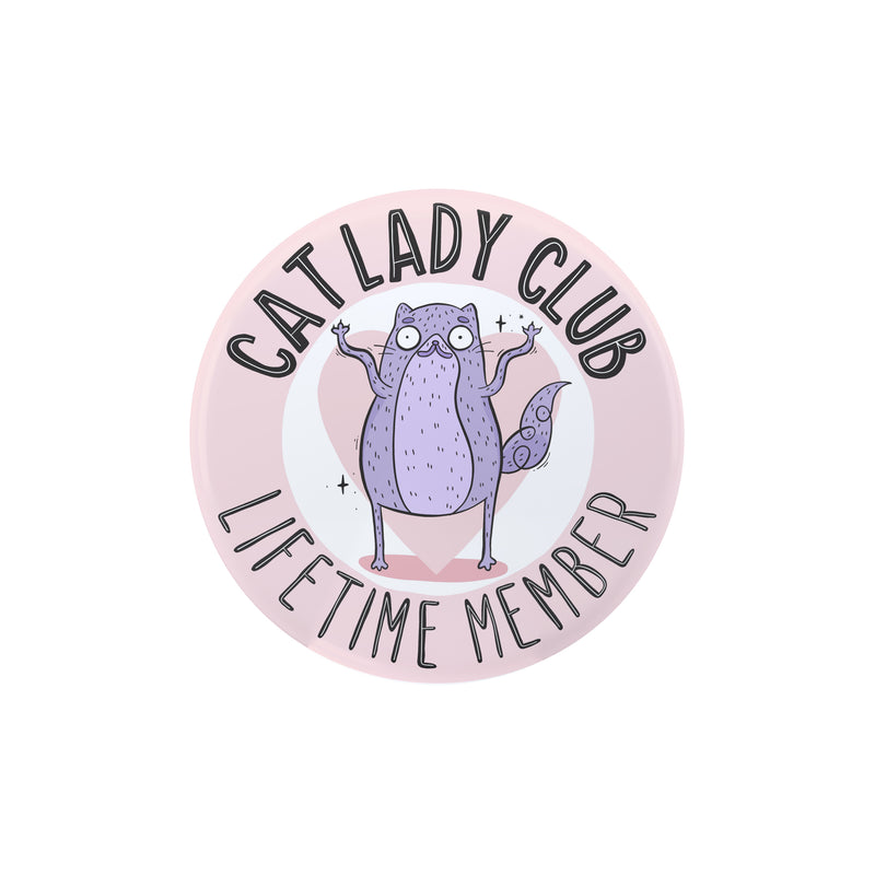 Cat Lady Large Badge - House Of Wonderland, HOW