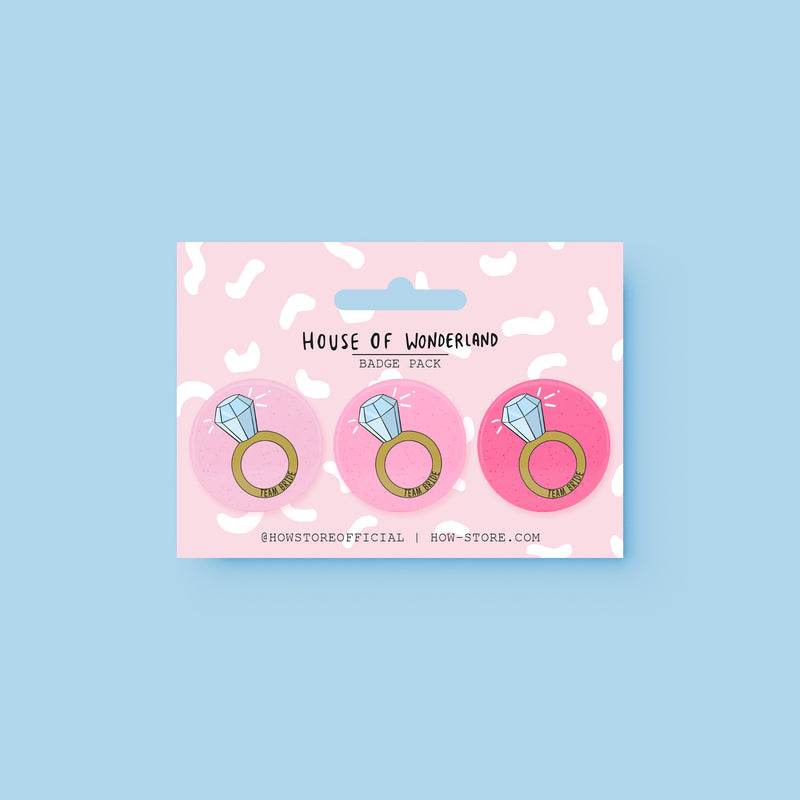 Bride To Be Badge Pack - House Of Wonderland