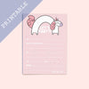 Set of 2 Printable Get It Girl Notepaper