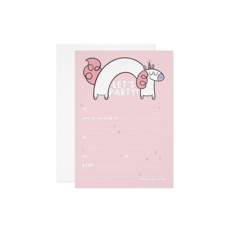 Unicorn Birthday Party Invitation - House Of Wonderland, HOW