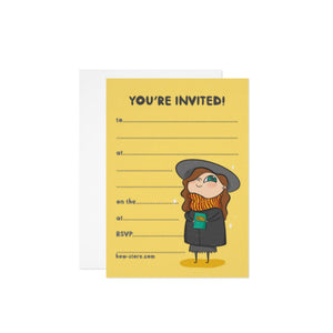 Witch/Wizard Birthday Party Invitation - House Of Wonderland, HOW