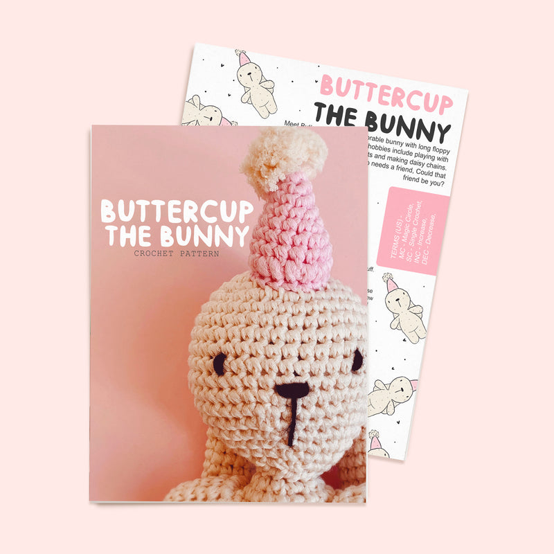 Buttercup The Bunny Crochet Pattern - House Of Wonderland, HOW
