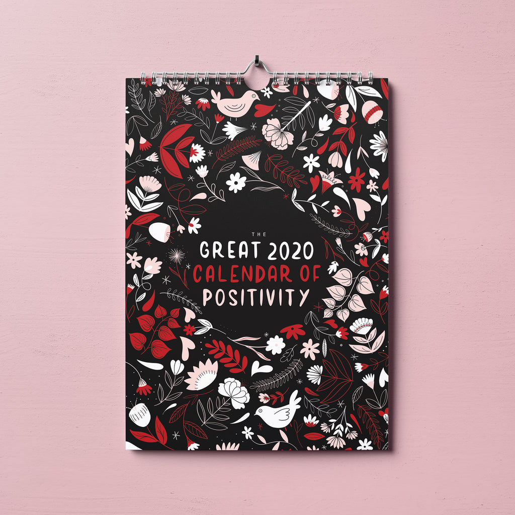 PREORDER Positivity 2020 Wall Calendar - House Of Wonderland, HOW