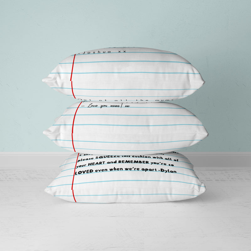 Letter To Mum Cushion - House Of Wonderland, HOW
