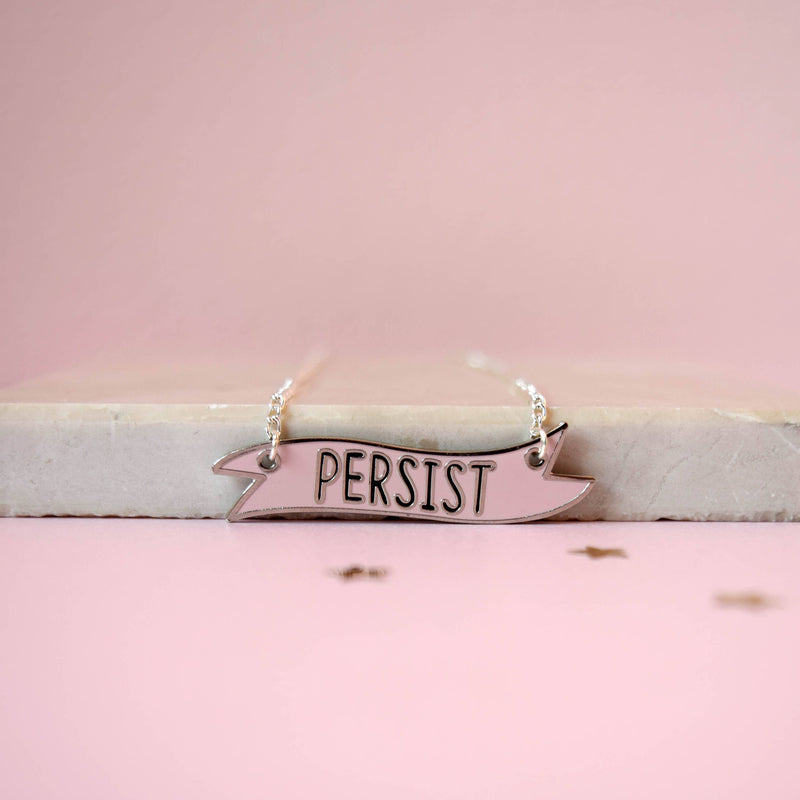 Persist Banner Necklace - House Of Wonderland